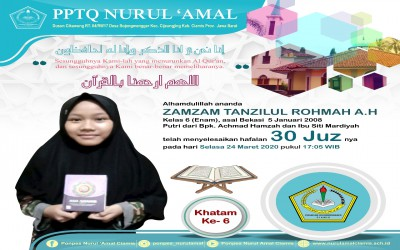 Tanzil, Santri Akwat Khatam Ziyadah Hafalan 30 Juz