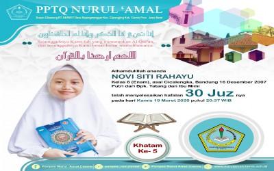 Novi Siti Rahayu - Santri Akhwat Khatam Hafalan 30 Juz